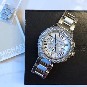 Michael Kors silver stainless steel Camille watch